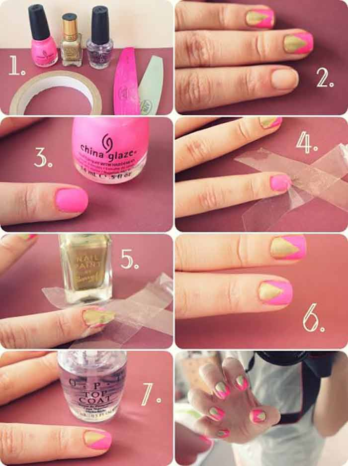 60 Trendy Nail Art Designs For Short Nails | The Minted Beauty
